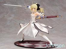 21CM Night Fate Sword Saber Saba Lily White Gold Victory Action Figure Model Movie Anime POP Gundam Miniaturen Toys