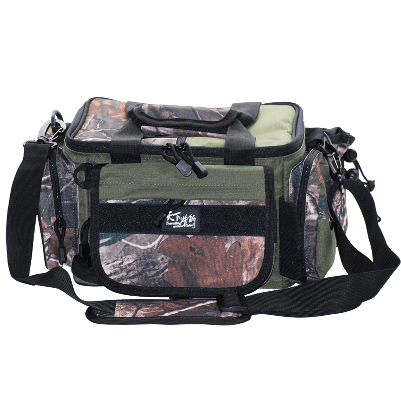 2014 BG-005 High Quality  Amy Green+ camouflage camouflage two kinds of color Large Capacity Fishing Bags 39*20*25cm top quality<br><br>Aliexpress
