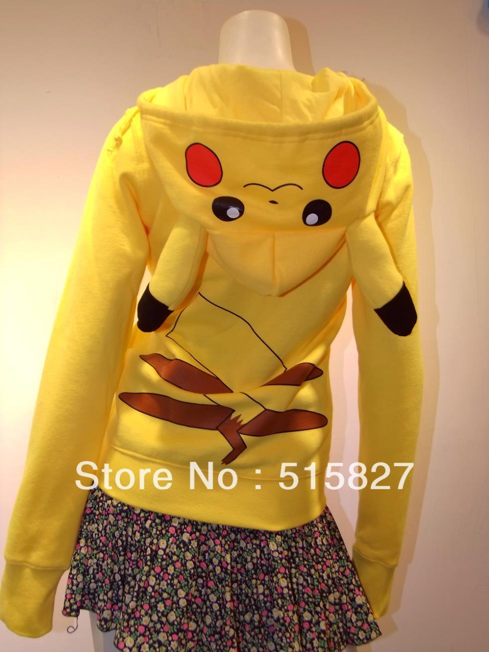 Japan Anime Lady Fashionable Cool Pokemon Pikachu Fashion Casual Hoodie Hoody Cosplay Costume Clothes women - UFO store