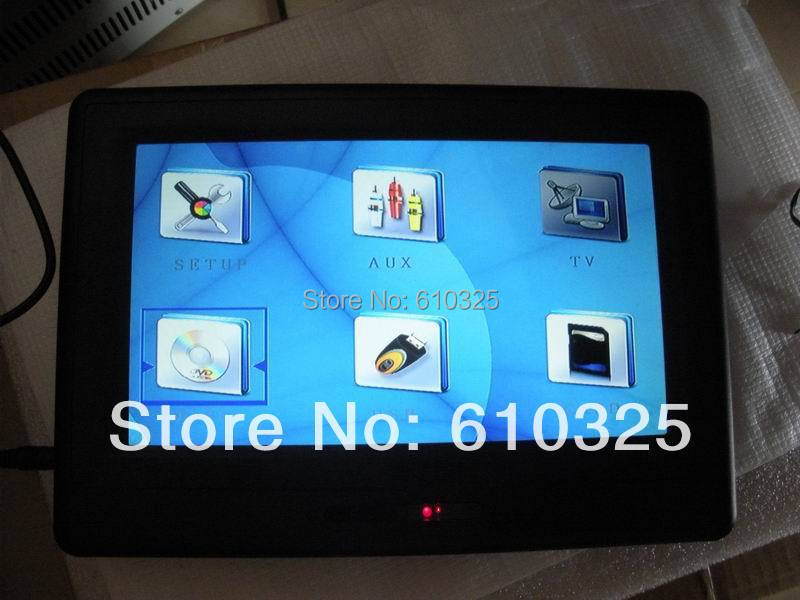 """9"""" Portable DVD Active Headrest Car DVD Player Touch Screen Wholesale/Lot Free Shipping(China (Mainland))"""