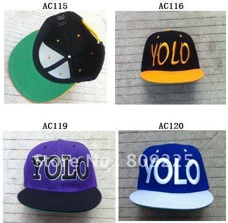 YOLO snapback hats free shipping cotton snapbacks black red green wholesale custom cap mix order(China (Mainland))