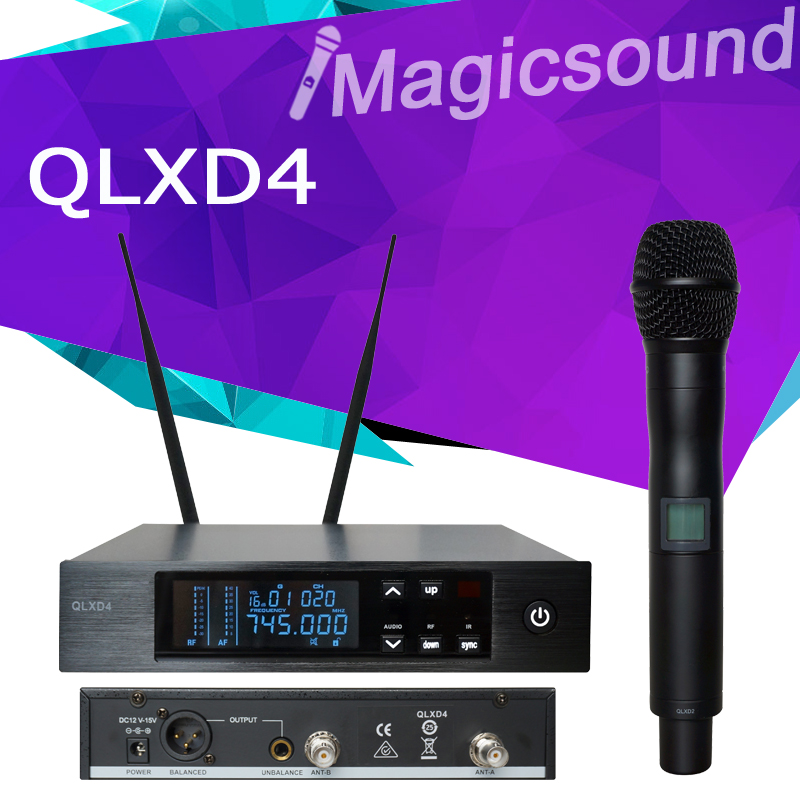 606-630MHz/740-765MHz !! Top Quality QLXD24 for Stage !! True Diversity UHF Professional Wireless Microphone System QLXD2 QLXD4(China (Mainland))