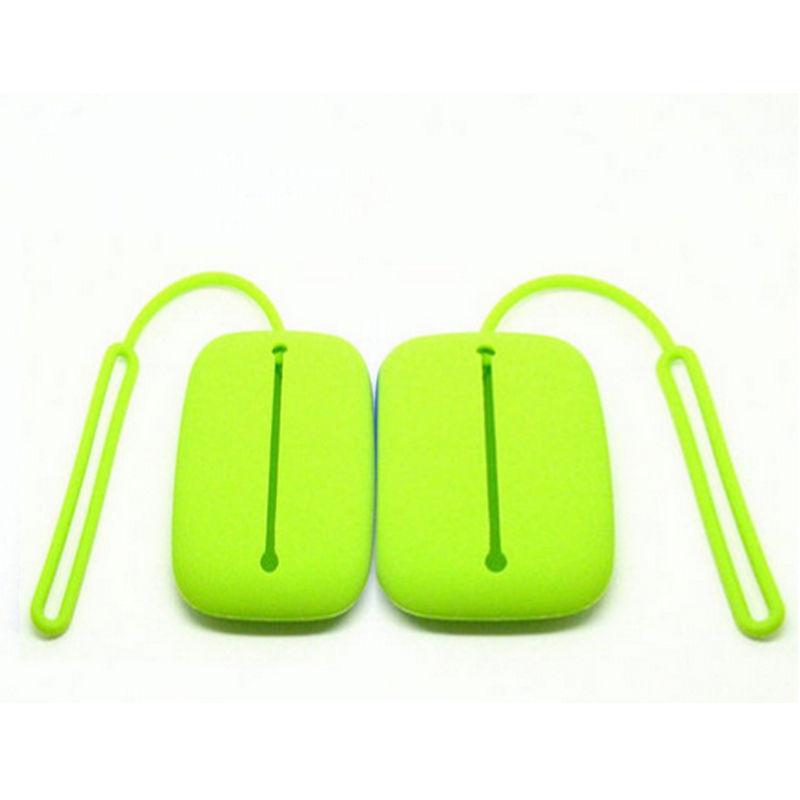 New Green Silicone Keyring Key Bag Card Pouch Holder Keyring Bag New Year Gifts(China (Mainland))