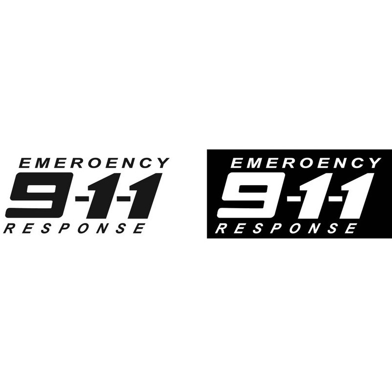 911 Emergency Telephone Creative Personalized Car Stickers Modified Car And Motorcycle Stickers Cartoon CT-462(China (Mainland))