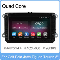 Quad Core Pure Android 4.4.2 Car DVD For Volkswagen VW Polo Jetta Passat CC Tiguan Touran Sharan Caddy Golf 5 6 7 4 Skoda GPS PC
