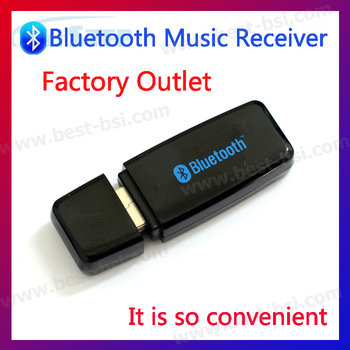 Free shipping 3pcs usb bluetooth audio receiver dongle For Transmitter Speaker iPod iPhone MP3 MP4 PC Music Player