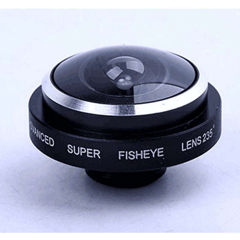 Universal Wide Angle 235 Degree Super Fisheye Lens for Iphone 5 5s 6 6s Plus Xiomi Redmi Note 2 3 Mobile Camera Fish Eye Lentes(China (Mainland))