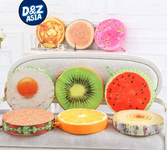 Fruit poached cushions chair pad thicker soft sponge bench autumn and winter floor mats latch hook kit(China (Mainland))