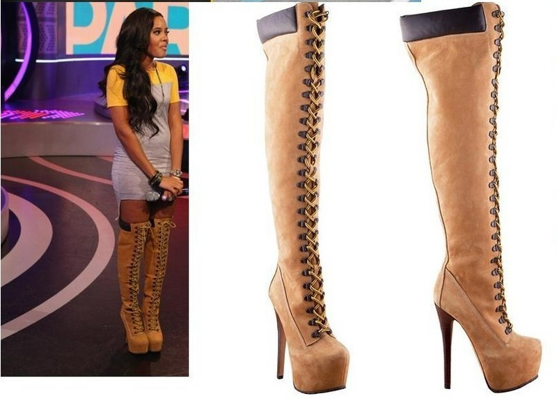 Popular Tan Leather Thigh High Boots-Buy Cheap Tan Leather Thigh ...