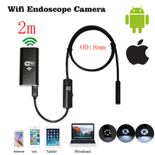 Buy 2m Cable Endoscope Mac IOS Android Wifi Endoscope 8mm Len 6 LED IP67 Waterproof Iphone Endoscope Inspection Borescope Camera for $23.21 in AliExpress store