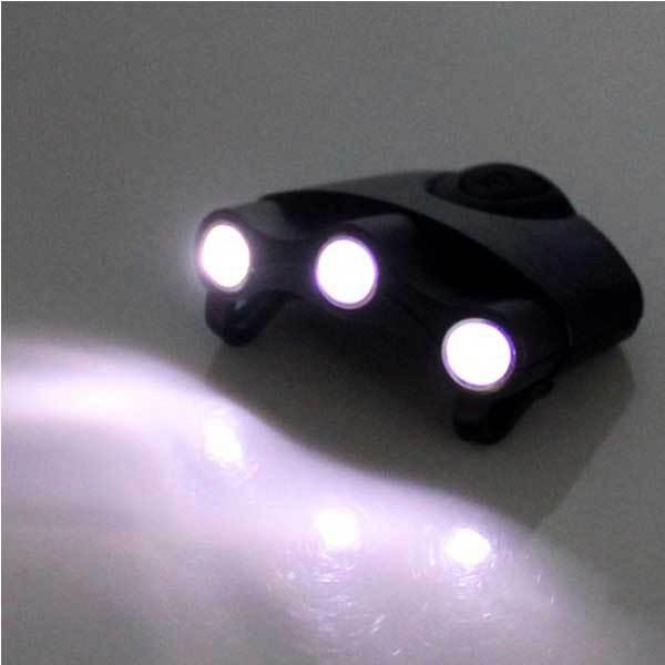 Bestprice vélo vélo 3 LED Clip lampe de chapeau en plein air Mini pêche à la lumière(China (Mainland))