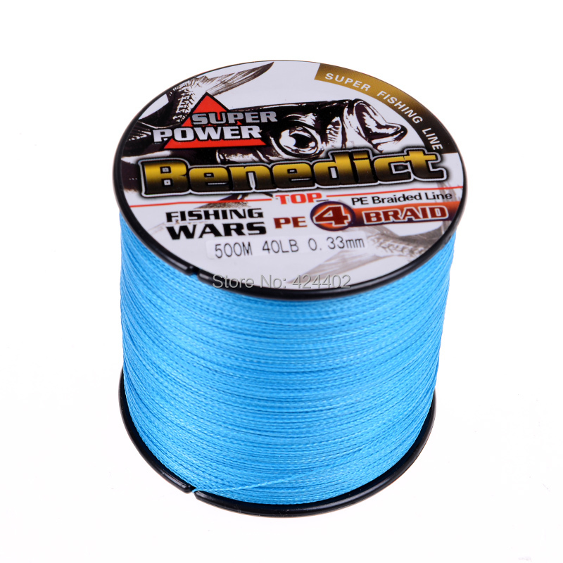 High quality super pe braided line 500M Japan multifilament fishing line 4 strands wires sea fishing(China (Mainland))
