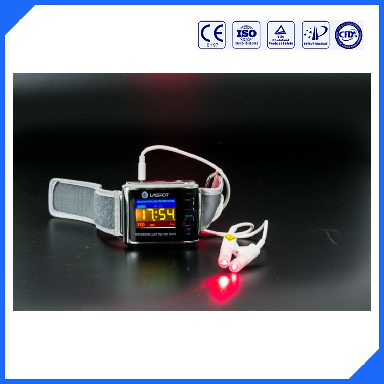 LASPOT GD07-W-1 Low Level Laser Therapy Wrist watch Device to clean and purify the blood(China (Mainland))