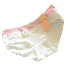 cheap&high quantity Lovely Briefs Women's Multi-Color Cotton Soft Lace Bow-knot Underwear Briefs Knickers(China (Mainland))