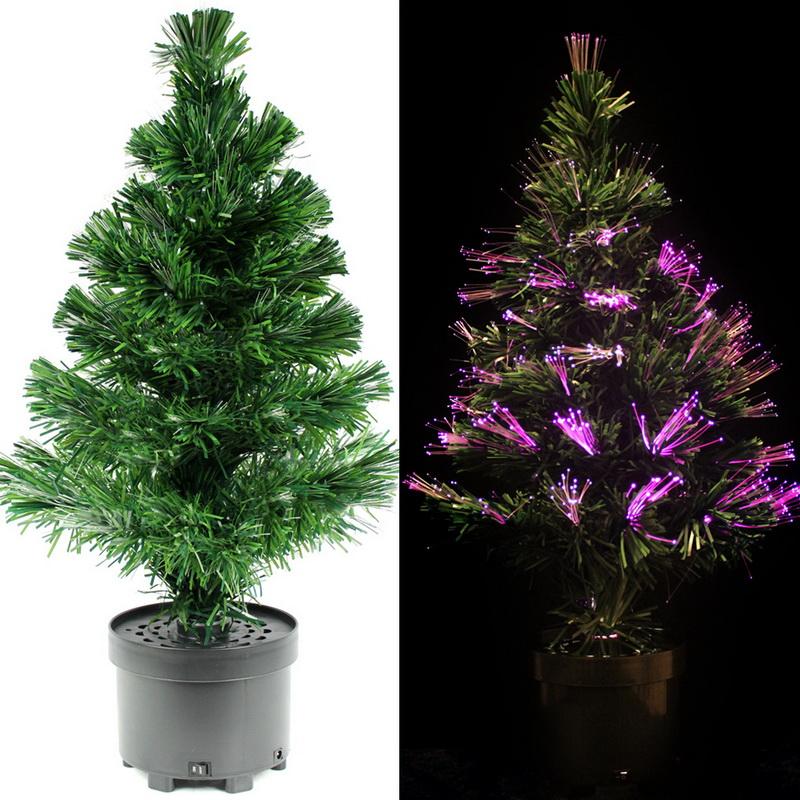 Free shipping 60CM LED fiber optic Christmas tree fiber optic Christmas tree lights LED fiber optic tree colorful changing(China (Mainland))