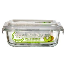 1PCS High Quality Tempered Glass Food Container Transparent Microwave Glasslock Food Storage Container Box 3 Size Hot Sale -6(China (Mainland))