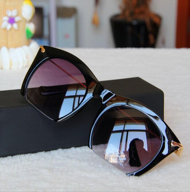 2015 Polarized ladies sunglasses Retro Semi-Rimless UV400 cat eye Pink Black Women Metal legs Vintage Sunglasses Brand designer(China (Mainland))