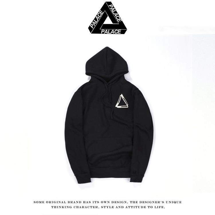 2016 Autumn winter tide card skateboard triangular teens loose cotton plus velvet hooded head hoody hip hop hoodies yeezy hoodie(China (Mainland))