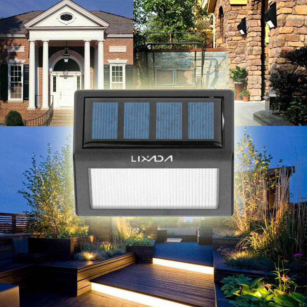 IP55 LED Solar Lights Wall Lamp Waterproof Garden Light Outdoor Landscape Lawn Lamp 6 LEDs Fence Solar Wall Lamps(China (Mainland))