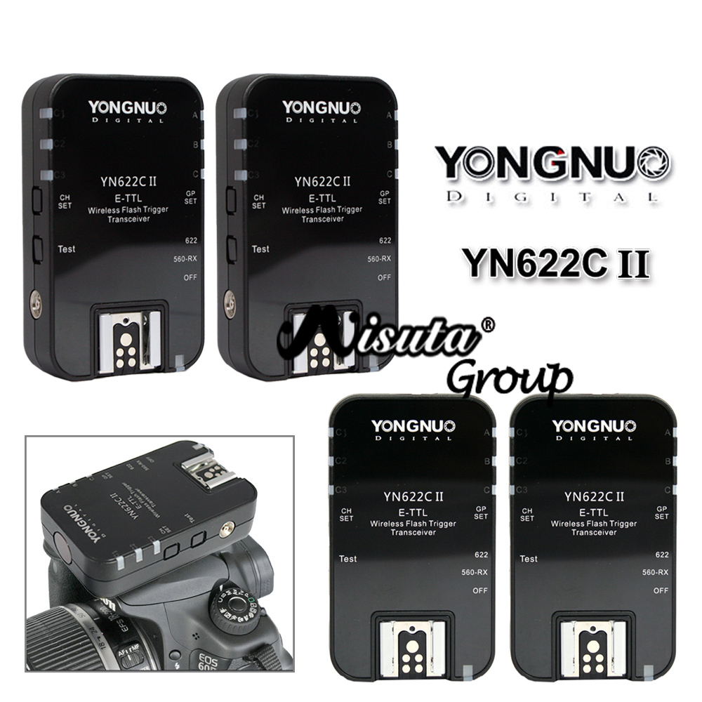 4pcs Yongnuo YN-622C II YN622C II Wireless TTL Flash Trigger For Canon 500D 450D 350D 300D 60D 320EX 270EX II 430EX 5D Mark III(Hong Kong)