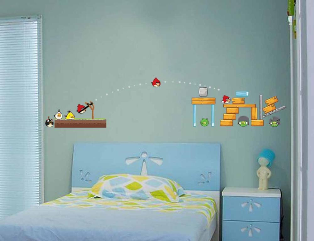 wall decals ZY1601 birds wholesale cartoon explosions kids room wall stickers removable waterproof quality(China (Mainland))