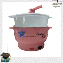 Good quality mini digital electric steamer with plastic outer shell CE 220v food warmer stainless steel electric steamer(China (Mainland))