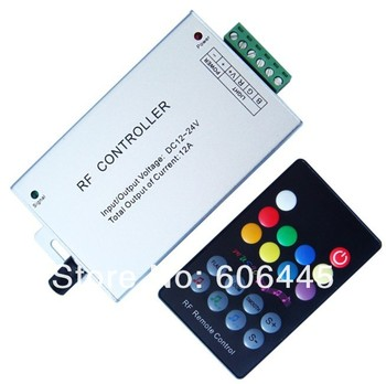 Free Shipping New RF Remote Control Music RGB LED Controller for RGB Strip