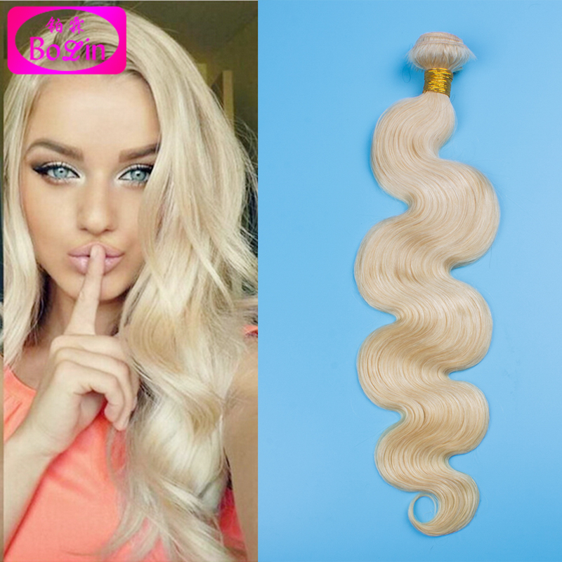 Color 613 Blonde Russian Human Hair Weave Virgin Body Wave Hair Bundles Grade 8A Wholesale Russian Human Hair Mixed Length 10-30<br><br>Aliexpress