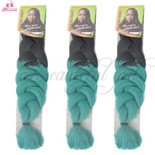 165G 80cm Ombre Kanekalon Jumbo expressions Braiding Hair afro twist synthetic weave box braids hair Marley expression Braids