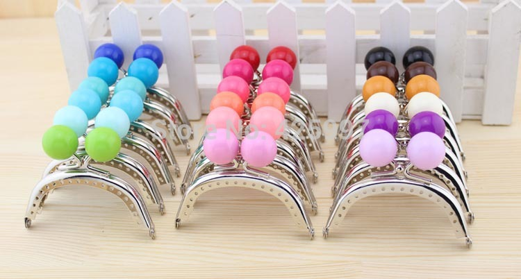 Mini lovely silver arc-shaped 8CM Thicken Large bead Candy bead Metal-opening Bags,Metal Purse frame Kiss Clasp 10pcs/lot(China (Mainland))