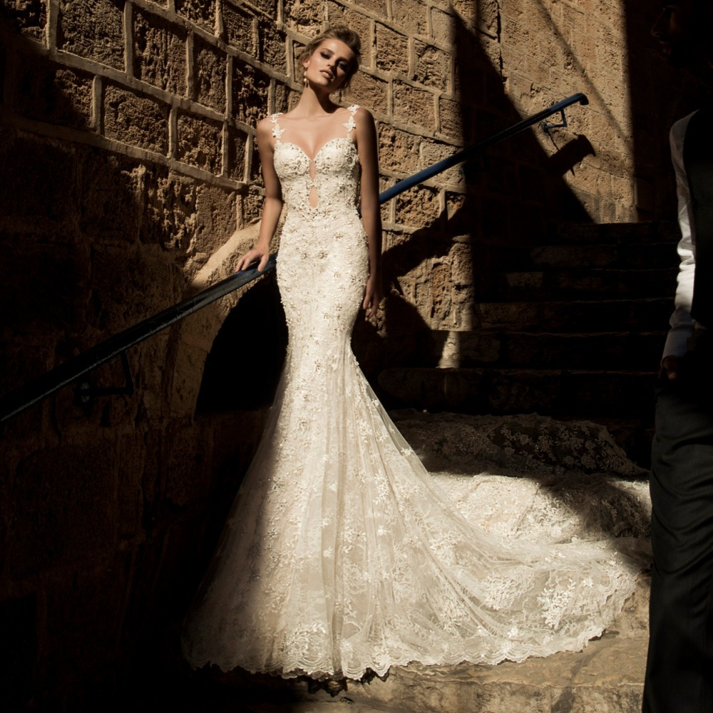 Fishtail Wedding Dresses Suggestions : Wedding dress with fishtail backless bridal gown in dresses
