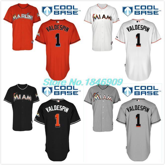 1 Valdespin Jordany Florida Marlins Customize Baseball Jersey Embroidered Stitched Shirt Orange White Black(China (Mainland))