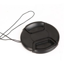 52mm 55mm 58mm 62mm 67mm 72mm 77mm Black Plastic Center Pinch Snap-on Cap Cover + LOGO +Anti-lost Rope for Nikon Lens