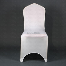 Russia discount warehouse in Russian Germany 100pcs good quality white Spandex Chair Covers for wedding event party(China (Mainland))