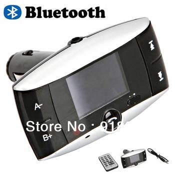 SO 822 Car Bluetooth MP3 Player FM Transmitter Modulator SD MMC Slot Card Black Remote + Free shipping + Wholesale
