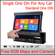 Single 1 DIN Car DVD Player autoradio GPS WIN8 UI Touch Stereo WiFi 3G Radio automotive+free 8GB map+Free rear view camera