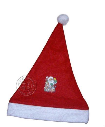 Christmas big red Santa hat woven hat Christmas hats wholesale 002(China (Mainland))