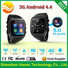 DHL Wholesale 2015 NEW Android Phone Watch with 1.54Inch Scratch Resistant Touch Screen Dual core 3G Android4.4 Hand Watch phone(China (Mainland))