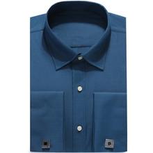 DRESSERVICE Large Size 4XL 5XL 6XL 2017 New Men French Cufflinks Shirt Long Sleeve Male Shirts French Cuff Dress(China)