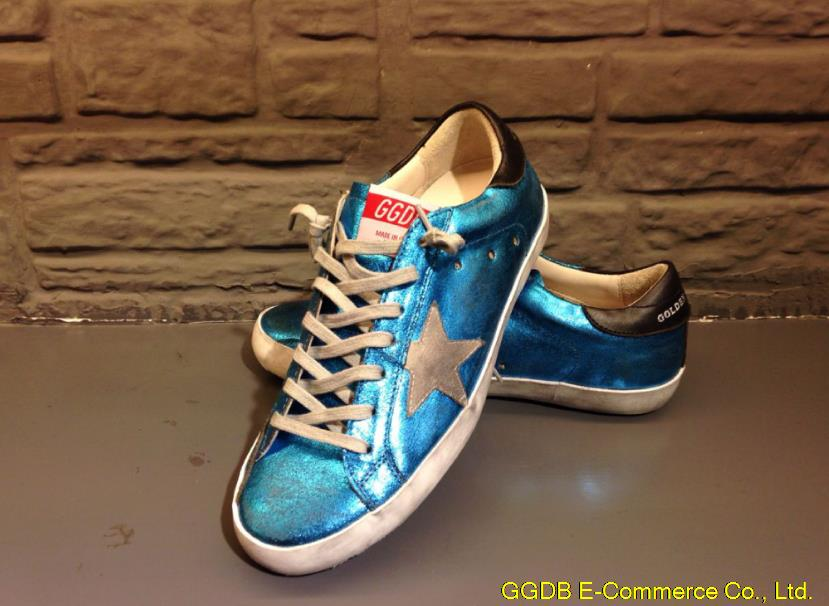 Italy Golden Goose Deluxe Brand Superstar Sneakers Genuine Leather Men Women Unisex Blue GGDB Shoes Scarpe Donna Uomo