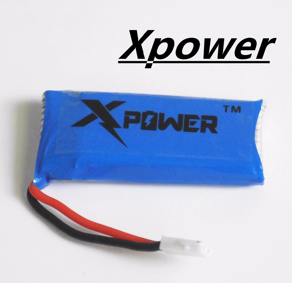 1pcs H107 Xpower 3.7V 500mAh LiPo Battery Hubsan H107 h107c JXD385 YD928 U816 rc Wltoys Walkera Quadcopter