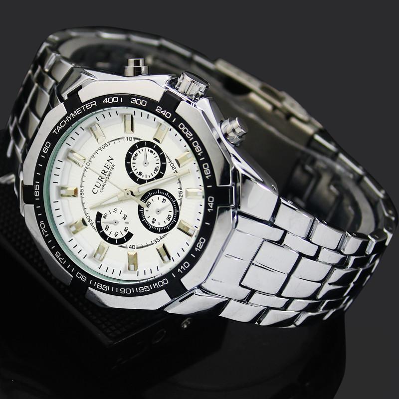 1шт белое лицо мужчины мужчина мужчины xmas участник подарок платье бизнес Спорт curren аналоговые кварцевые наручные часы, 8084