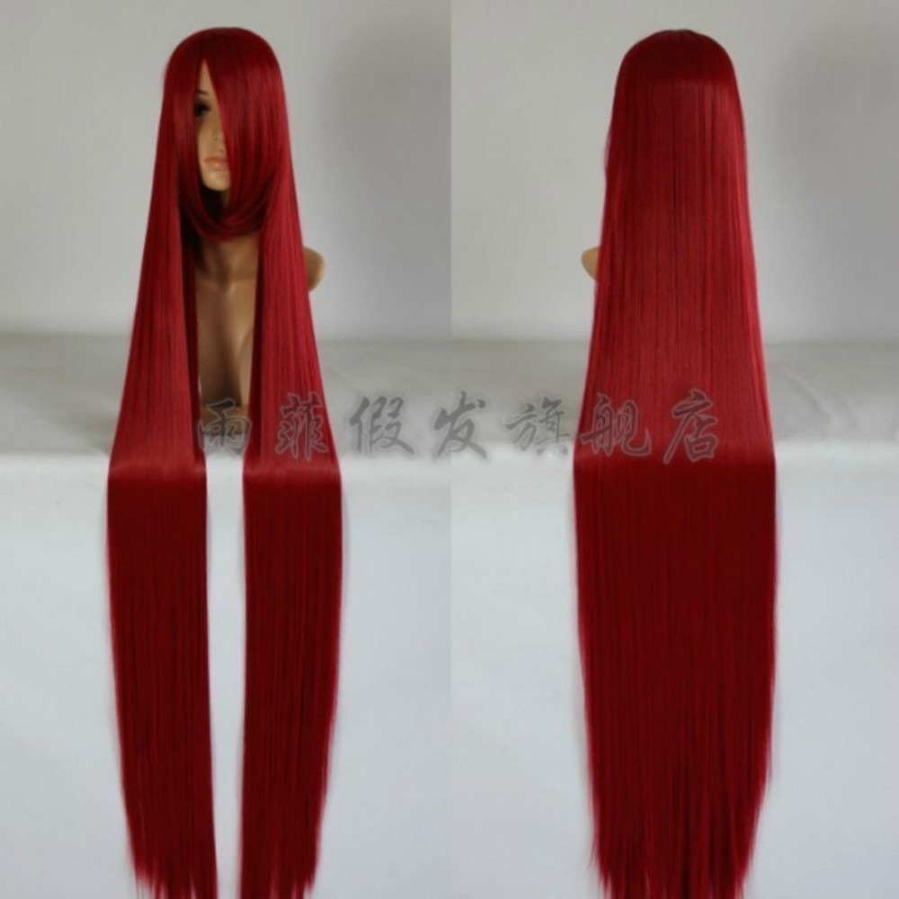 Free P P Popular New Extra Long Dark Red Cosplay Wig 60