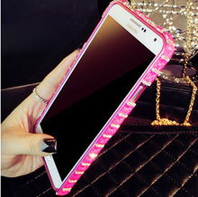 New arrival high quality fashion rhinestone case diamond metal frame case cover for samsung galaxy s5 s4 note 3 case IN STOCK(China (Mainland))