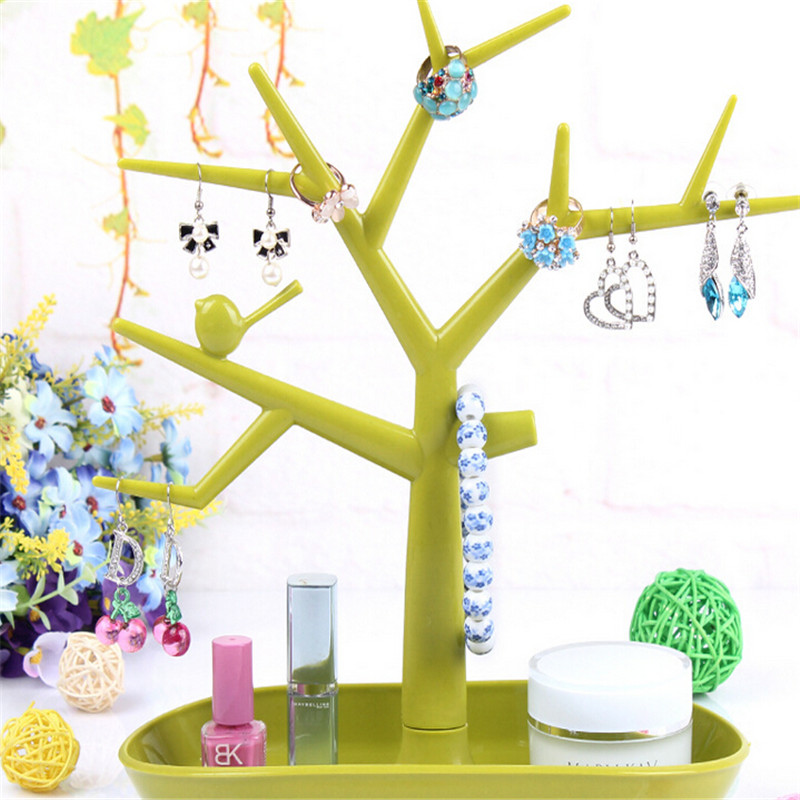 Jewelry Necklace Ring Earring Tree Stand Display Organizer Holder Show Rack Jewelry Packaging & Display Accessories(China (Mainland))