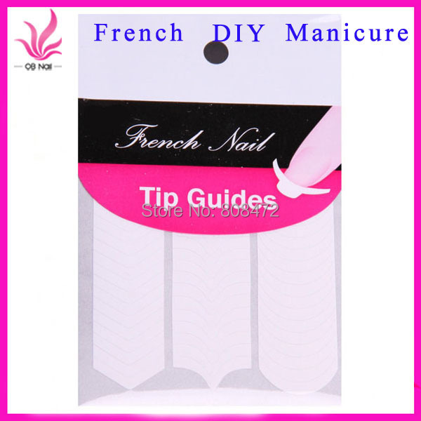 FREE SHIPPING 5 PCS/LOT New Arrival French Manicure Stick Smile Line Nail Art Accessories DIY Nail Tape Stickers Masking tape(China (Mainland))