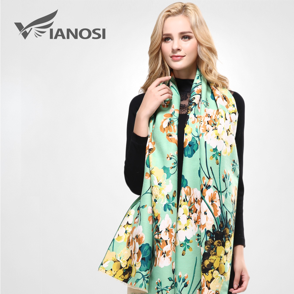 [VIANOSI] 2016 Brand Floral Scarf Women Wool Bufandas Warm Cashmere Winter Shawls and Scarves Woman VA051(China (Mainland))
