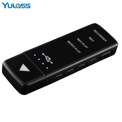 Yulass 8GB Mini Digital Audio Voice Recorder Professional Small Black USB Recorder REC Dictaphone With MP3/WMA/WAV(China (Mainland))