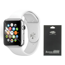 For Apple Watch Screen Protector HD Clear LCD Screen Guard Film for Apple Watch 38mm With Black Package