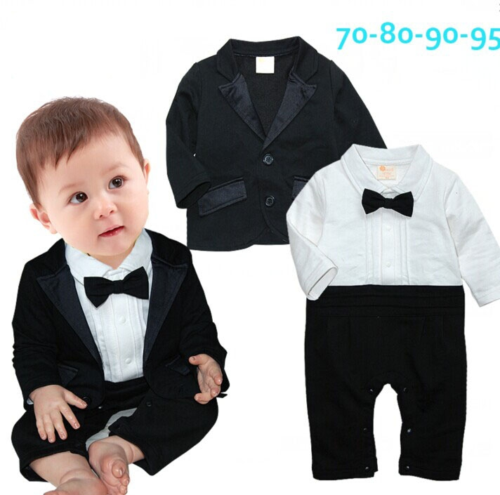 Гаджет  2014 new baby boy set gentleman long sleeve Bow ties rompers +Jackets infants 2 pcs suit Birthday party clothing set 721A None Детские товары